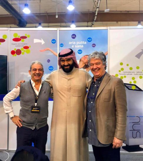 Romeo Moretto e Andrea Fiesoli all'Expo Kuwait-Italy