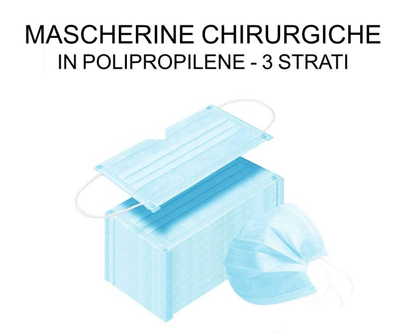 Mascherine chirurgiche in polipropilene disponibilità immediata