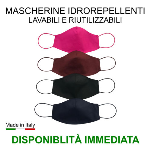 Mascherine idrorepellenti disponibilità immediata