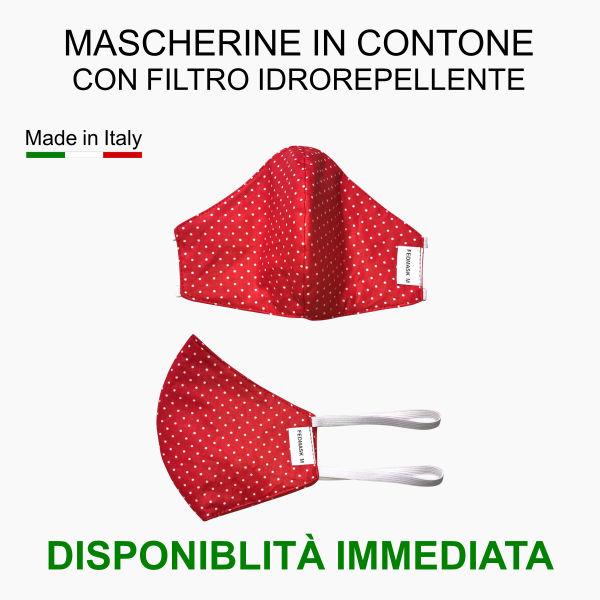Mascherine in cotone con filtro idrorepellente