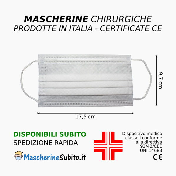 Mascherine disponibili subito