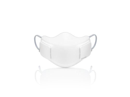 Vista frontale mascherina high-tech LG PuriCare Wearable Air Purifier