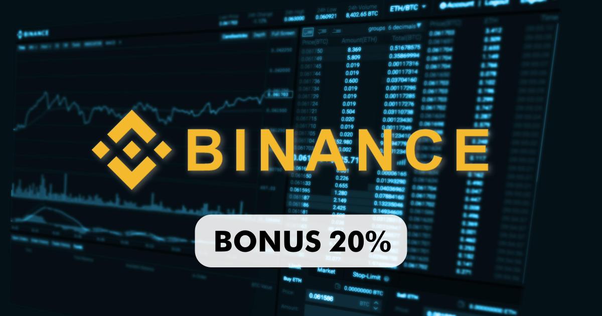 Bonus 20% su Binance
