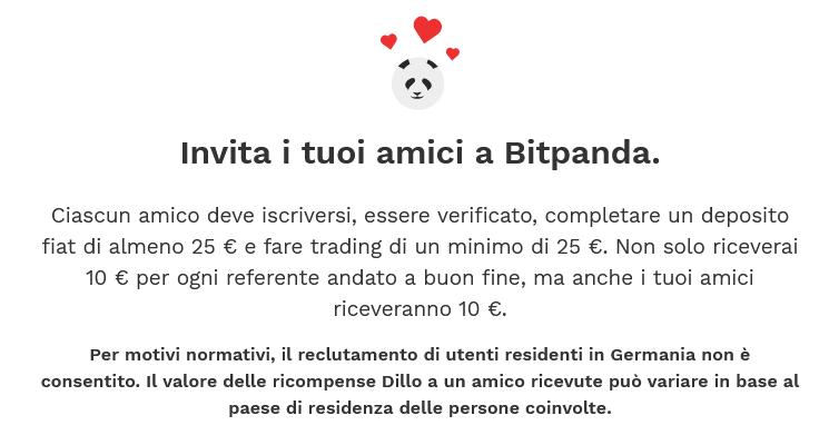 Programma dillo a un amico Bitpanda