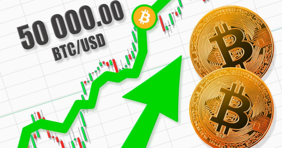 Record Bitcoin a 50 mila dollari