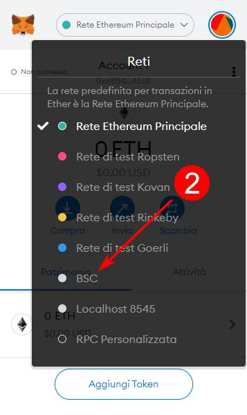 Come configurare la rete BSC su MetaMask su PC
