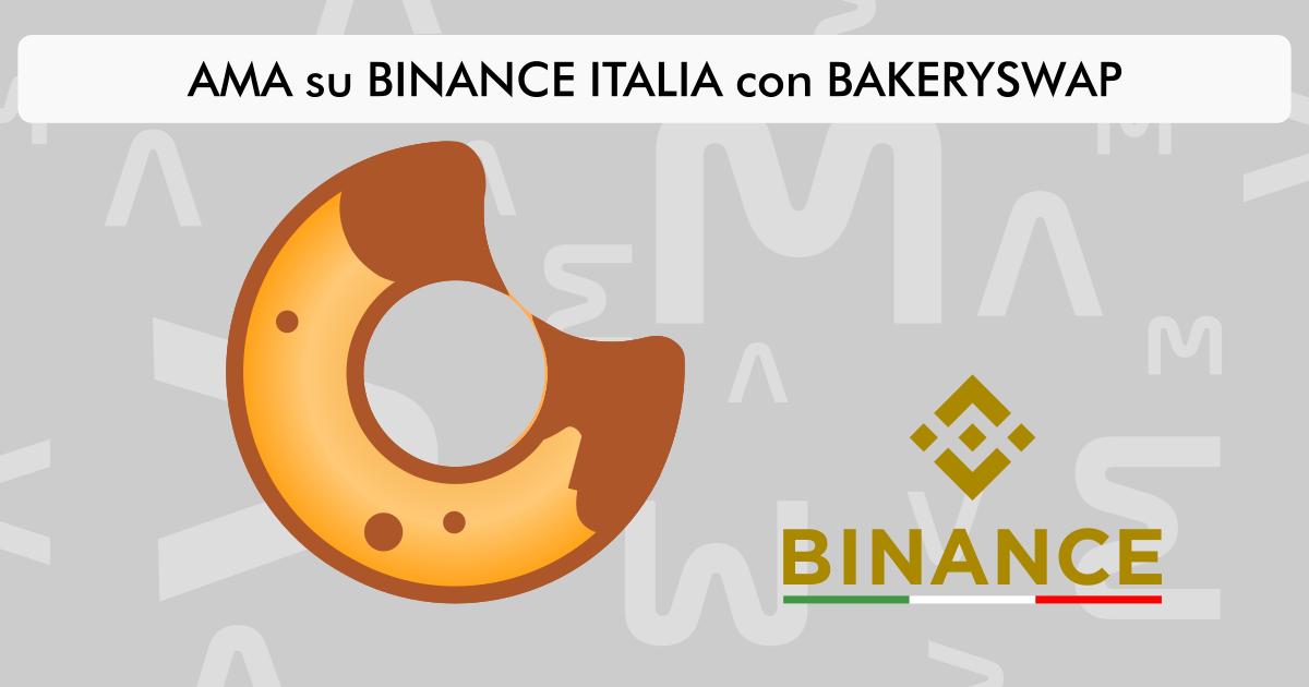AMA su Binance Italia con Bakeryswap