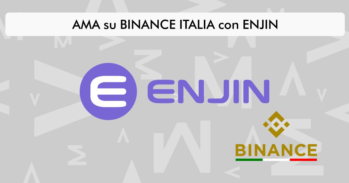 Enjin: tutto quello che dovresti sapere grazie all'AMA su Binance Italia