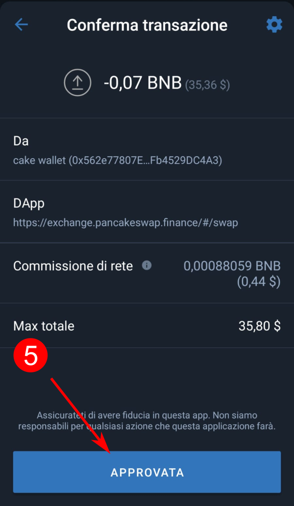 Come comprare XED su Pancakeswap con PC o con smartphone e tablet