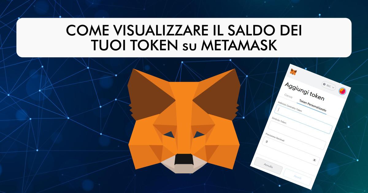 Come aggiungere token su metamask