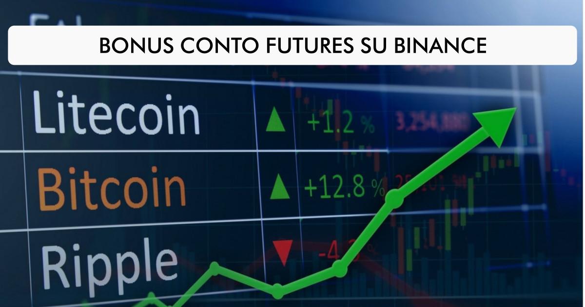 Bonus conto futures su Binance