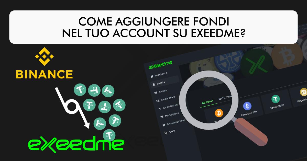 Come aggiungere fondi su Exeedme