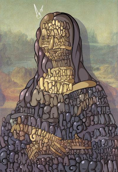 Mona Lisa Bubble Graffiti by Simon Dee su Rarible
