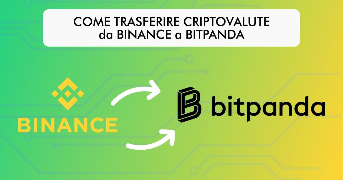 Come trasferire criptovalute da Binance a Bitpanda