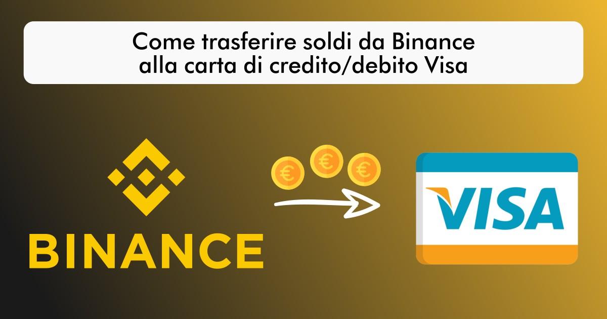Come prelevare da Binance a carta di credito/debito